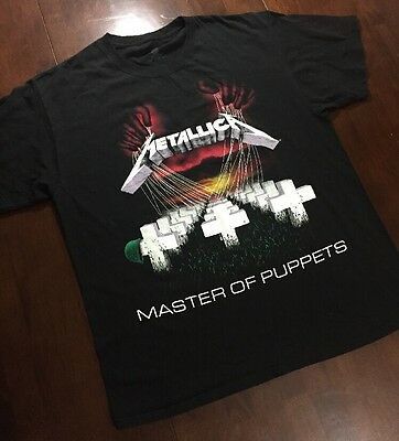 VTG METALLICA MASTER OF PUPPETS TEE SHIRT MENS LARGE GREAT SHAPE