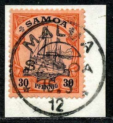 Samoa Mi 12  Luxusbriefstück  Malua