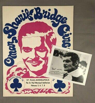 1970 OMAR SHARIF Bridge Circus Program ST PAUL Minnesota RETRO