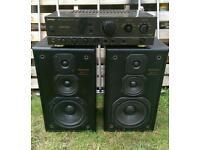 Technics amp and speakers