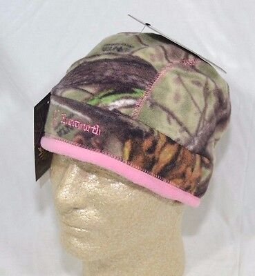 Huntworth Womens Oaktree Evo Camo   Pink Fleece Beanie Stocking Cap Hat New