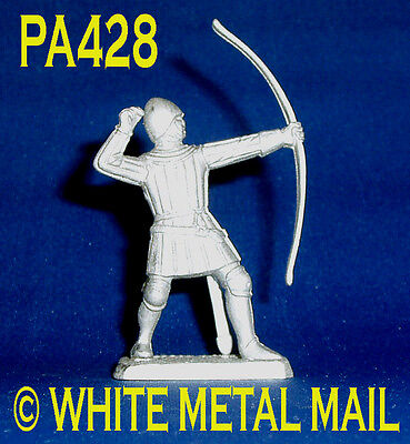 PA428 Military Lead Casting 1:32 Medieval English Longbowman (Archer) Firing