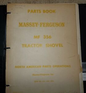 356 MASSEY TRACTOR SHOVEL PARTS BOOKS & TECHNICAL BOOKS, 4 TOTAL Belleville Belleville Area image 2