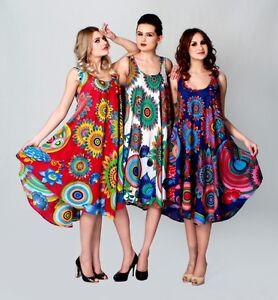 image is loading robe ample tunique longue femme sans manche imprime - Tunique Colore Femme