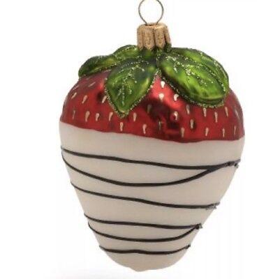 Valentine Ornaments (Yes Vanilla Strawberry Valentine Gift SUR la TABLE Glass Handmade Ornament)