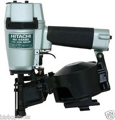 "NEW Hitachi NV45AB2 7/8"" to 1-3/4"" 16 Deg Professional Roofing Coil Nailer NIB"