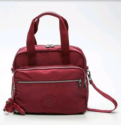 BNWT Kipling Kos Sangria burgundy travel overnight shoulder tote bag 20L Rrp £94
