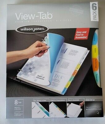Wilson Jones 48 View Tabs Presentation Book Multi-color