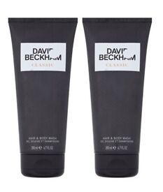 2 x DAVID BECKHAM CLASSIC HAIR & BODY WASH - 2 x 200ML RRP £9.99 EACH