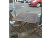 Wooden garden table and chairs free delivery