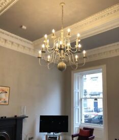 Chandelier (x2) Turnbull and Thomas (Cream and Grey)