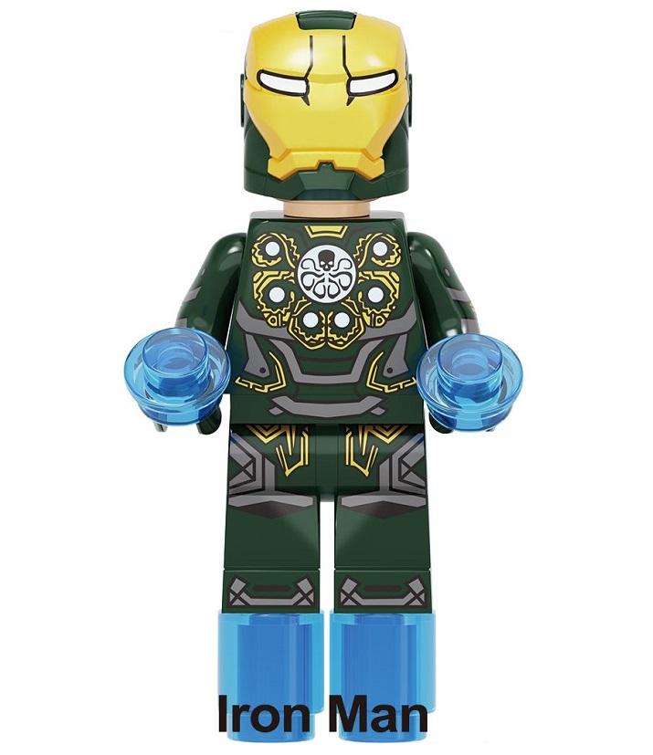 New Minifigure Rare Custom Lego Iron Man Style Hydra Group Marvel Universe DC