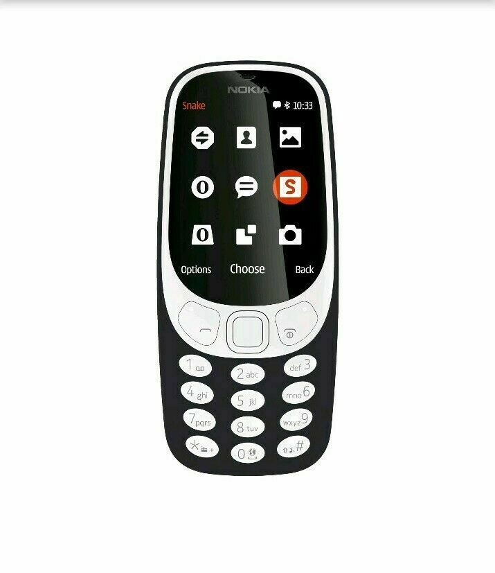 New Nokia 3310 3G Unlocked Cell Phone GSM TA-1036 Black Dual