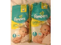 Pampers size 1 Baby Nappies