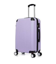 Purple 4 Wheels Large Suitcase ABS Luggage Hard Shell Trolley-cash only & collect by person