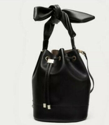 Zara Unique Style Black Bucket Bag,Size M New, used for sale  Shipping to Ireland