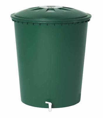 Garantia Regentonne grün, 510L, rund, inkl. Deckel und Auslaufhahn Regenfass
