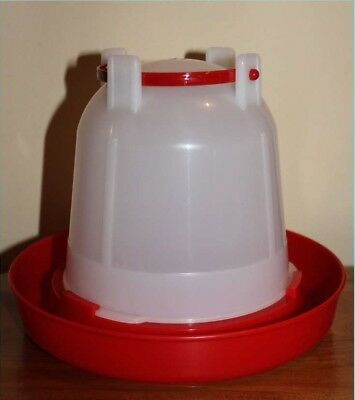 NEW POULTRY DUCK CHICK QUAIL PIGEON DRINKER 1.5LITRE X5  WITH CARRYING HANDLE