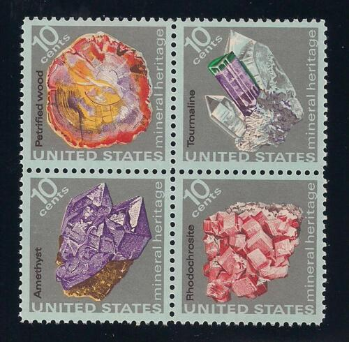ROCKS & MINERALS - BEAUTIFUL SET OF 4 U.S. POSTAGE STAMPS - MINT CONDITION