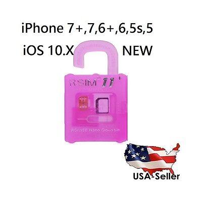 R-SIM 11+ UNLOCK LATEST APPLE iPHONE 7 PLUS 6 iOS 10.X RSIM SPRINT VERIZON RSIM