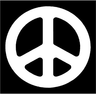 Peace Sign - Premium cutout vinyl decal / sticker.  Choose your color & size](Peace Sign Cutouts)