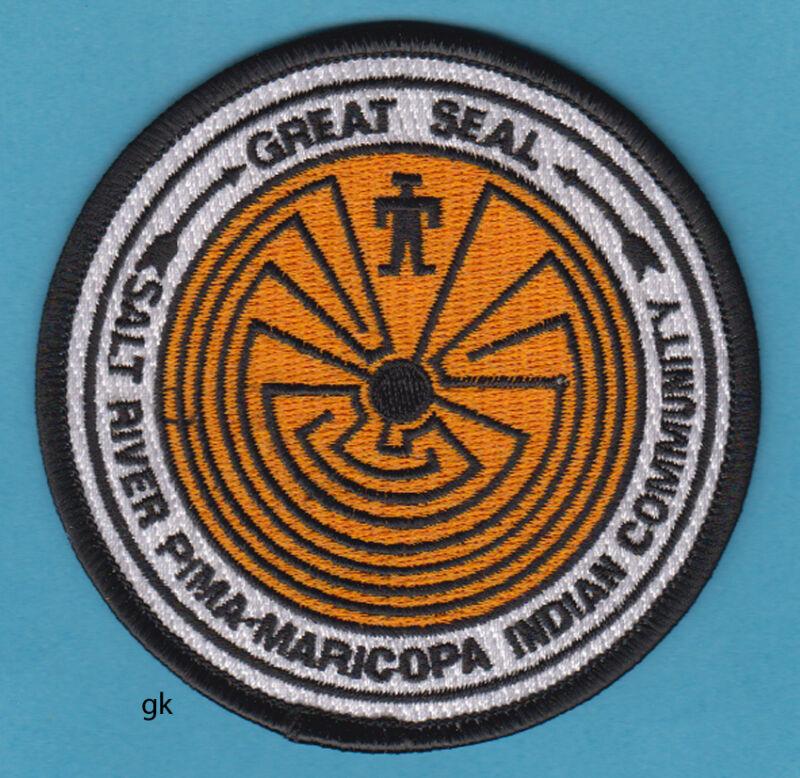 ARIZONA GREAT SEAL SALT RIVER PIMA-MARICOPA INDIAN COMMUNITY TRIBAL PATCH