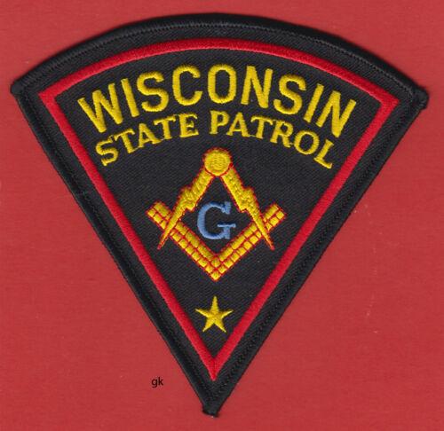 WISCONSIN STATE PATROL MASON MASONIC POLICE SHOULDER PATCH