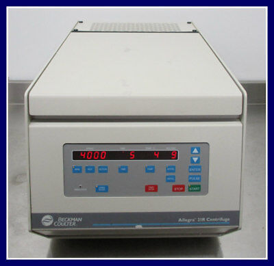 Beckman Coulter Allegra 21r Refrigerated Benchtop Centrifuge W S4180 Rotor