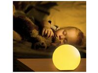 Childrens / Baby Remote Control Bedside Mood Lamp / Night Light - Safe Touch - Multi Coloured Lights
