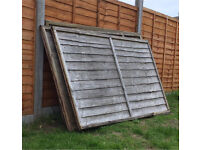 Free 6 old fence panels (6 x 4)