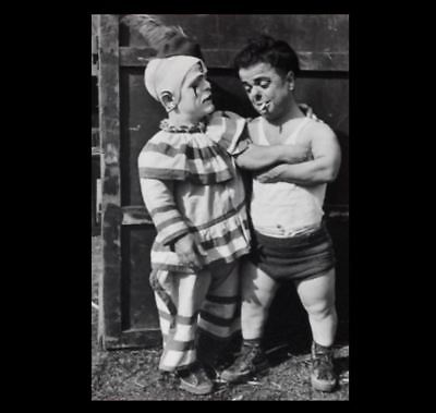 Vintage Circus Clown Midget Dwarf PHOTO Circus Freak Sideshow Halloween Costume