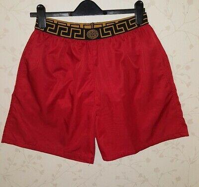 Mens Very Smart Versace Red Swim/ Beach/ hoilday Shorts VGC !!! Size XXL (30-34)