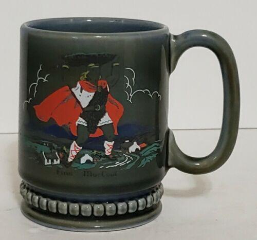 Vintage Wade Mug Irish Pride Porcelain Finn MacCoub Celtic Hero legend Green