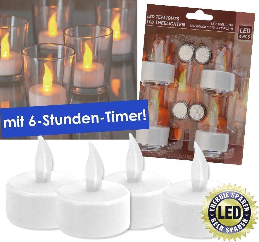 LED Teelichter Timer elektrische Teelichter LED Kerzen Teelicht mit Batterie