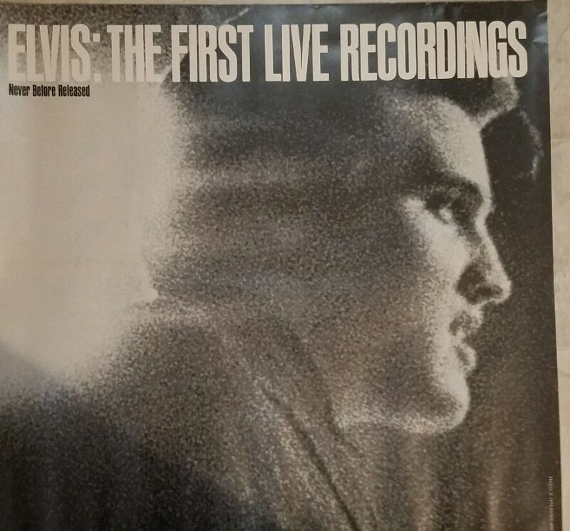 ELVIS - 1979 Vintage Promo Poster, Limited Ed for his first live recordings