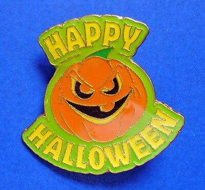 PIN Halloween Vintage MEAN FACE Happy Enamel JOL PUMPKIN Holiday - Mean Halloween Pumpkin Face