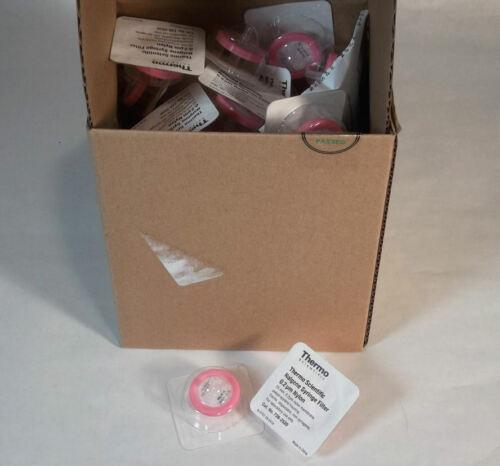 50pk Thermo Scientific Sterile Syringe Filter 25 mm Nylon Membrane 0.2 um Pore