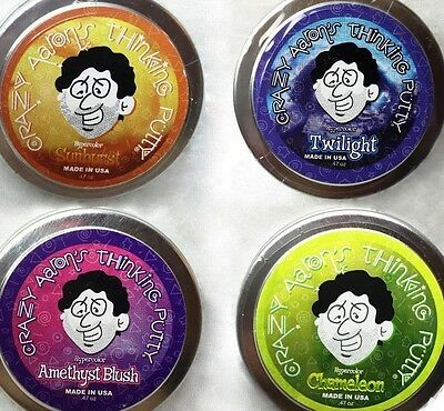 Crazy Aarons Thinking Putty Hypercolor Sunburst Twilight Amethyst Cham  47Oz Ea