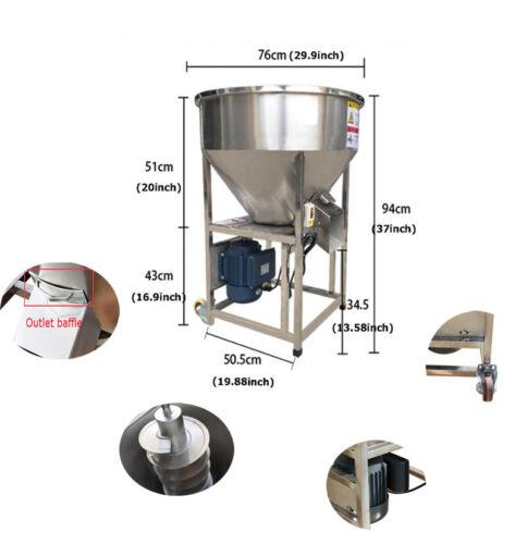 "Dry Powder Mixer Blender Mixing Machine Full Stainless w/1.4HP Motor 29.9""Hopper"