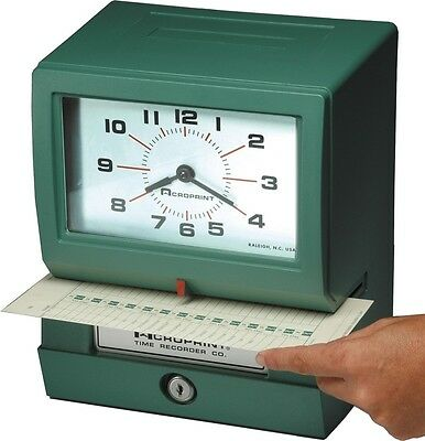 Acroprint Electric Print Heavy-duty Standard Time Recorder-150rr4 01-2070-41b