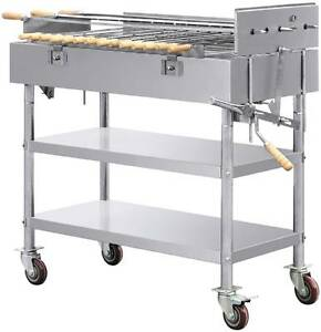 Commercial Grade Stainless Steel Rotary Charcoal BBQ Grill Sans Souci Rockdale Area Preview