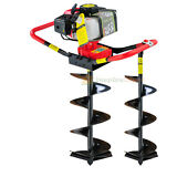 """2.3 HP Gas Powered Post Hole Digger w/2 auger Bits 6"""" + 10"""" 55CC Power Engine"""