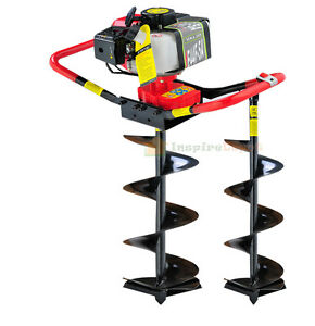 2.3 HP Gas Powered Post Hole Digger w/2 auger Bits 6
