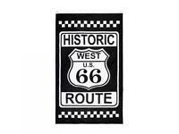 Route 66 Flag 90X150cm Historic West USA Road Trip Man Cave Garage ,