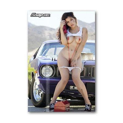 Z   150 Tool Box Fridge Magnet Beautiful Snap On Sexy Girl Mini Bikini