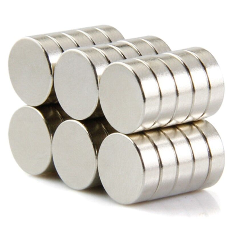 Neodym Magnete super stark Scheiben Würfel N35 N45 N50 doppelt vernickelt Scheibe - Ø 10 X 3mm