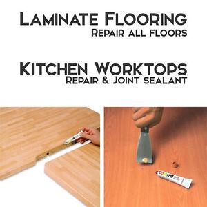laminate wood flooring kitchen worktop repair sealant all colours new ebay. Black Bedroom Furniture Sets. Home Design Ideas