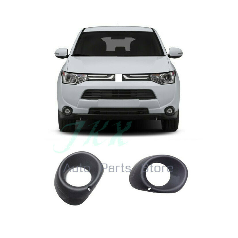 Pair front fog lamp light cover Hole for Mitsubishi Outlander 2013-2015