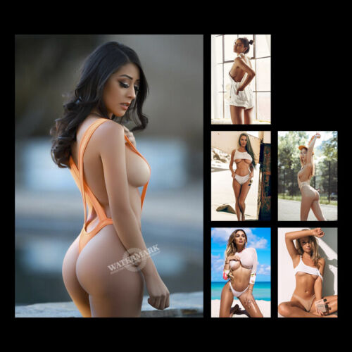 """A•1729 # Sweet Sexy Cute Girl Mini Swim Suit Glossy Photos 4""""x6"""" Decorate"""