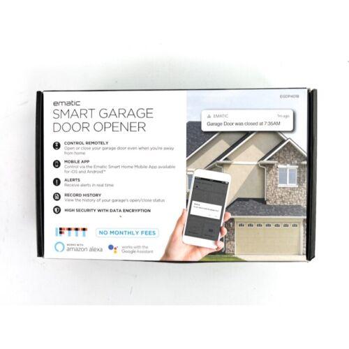 Ematic Smart Garage Door Opener EGDP4018 works with Amazon Alexa & Google Assist